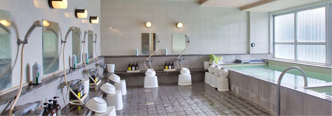 沖縄では珍しい大浴場